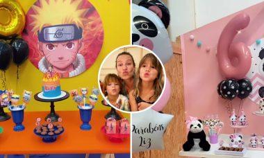 Luana Piovani celebra aniversário dos filhos gêmeos em Portugal