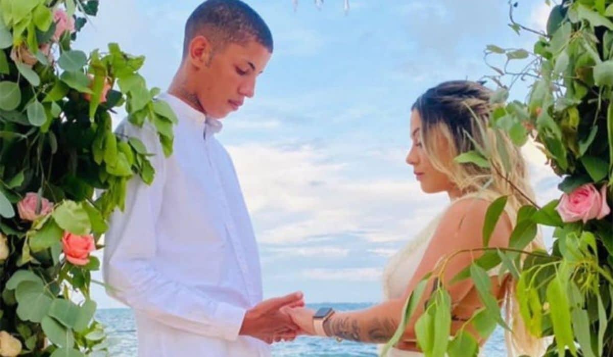 MC Don Juan se casa com DJ Allana em cerimônia na praia de Cancún