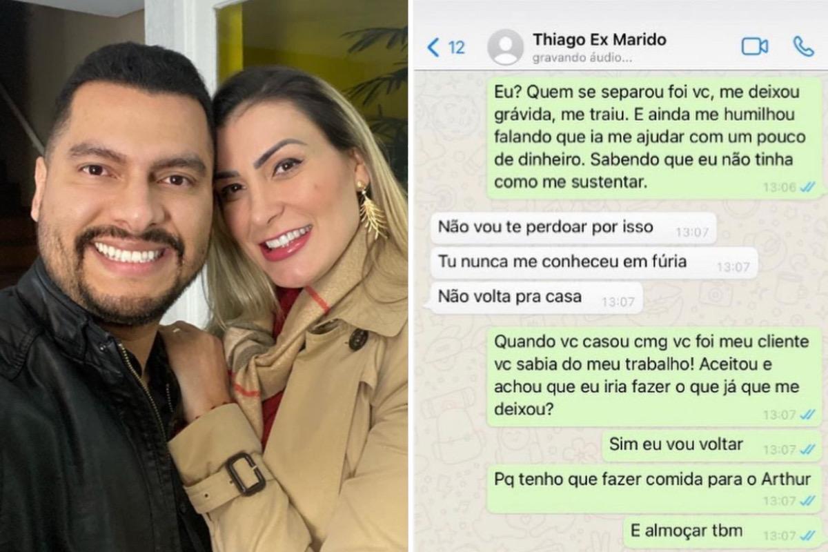 """Andressa Urach discute com o marido e o acusa de traição: """"Estou sendo ameaçada"""""""