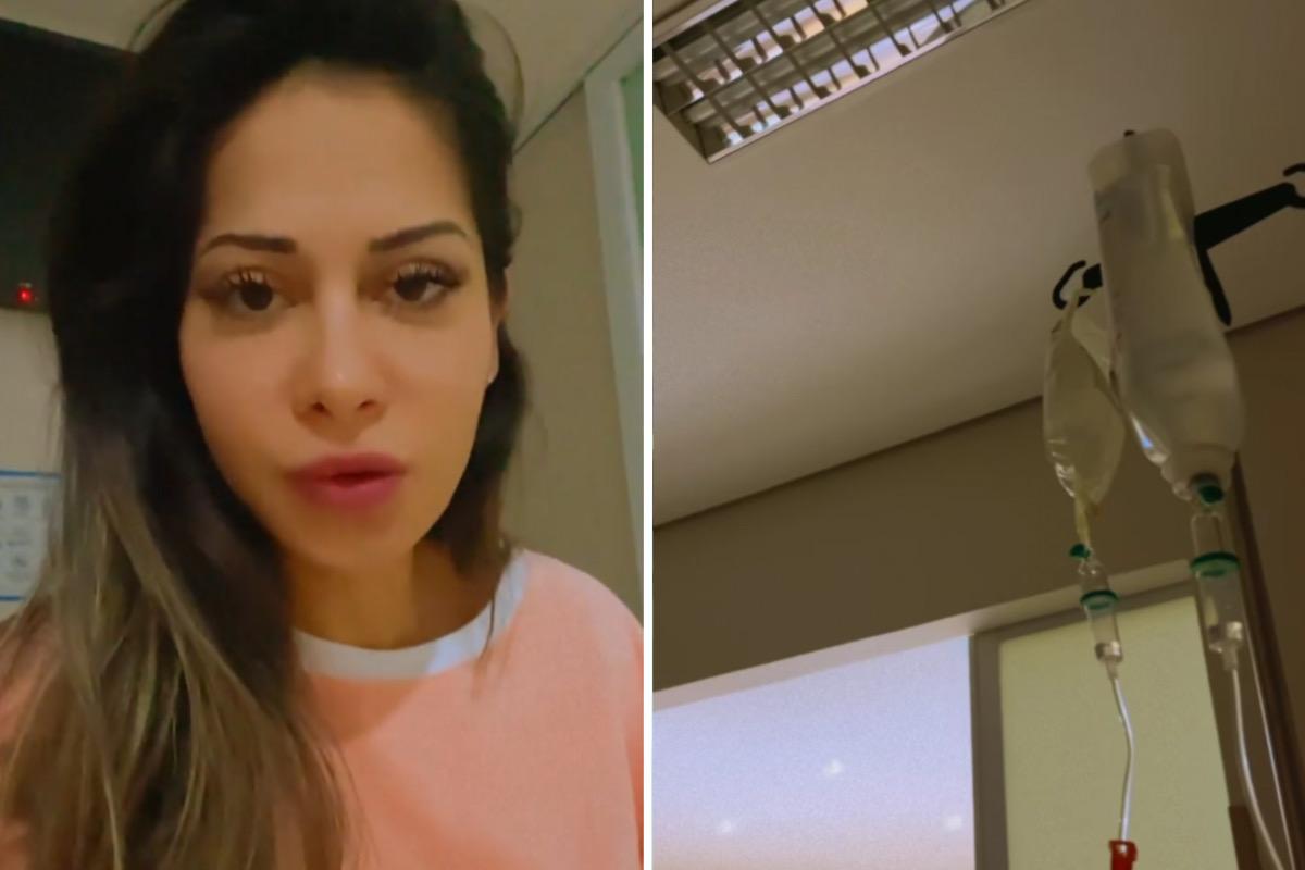 """Mayra Cardi passa mal e é internada: """"Muito fraca"""""""