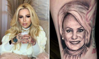 """Influenciadora faz tatuagem do rosto de Ana Maria Braga: """"Inspiração de força"""""""