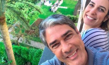 Natasha Dantas comemora 3 anos de casamento com William Bonner