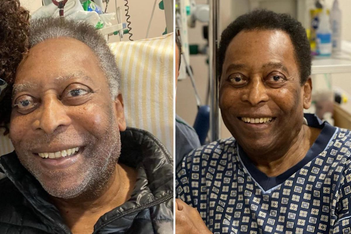 """Pelé muda o visual durante internação e filha celebra: """"Pintou o cabelo hoje"""""""