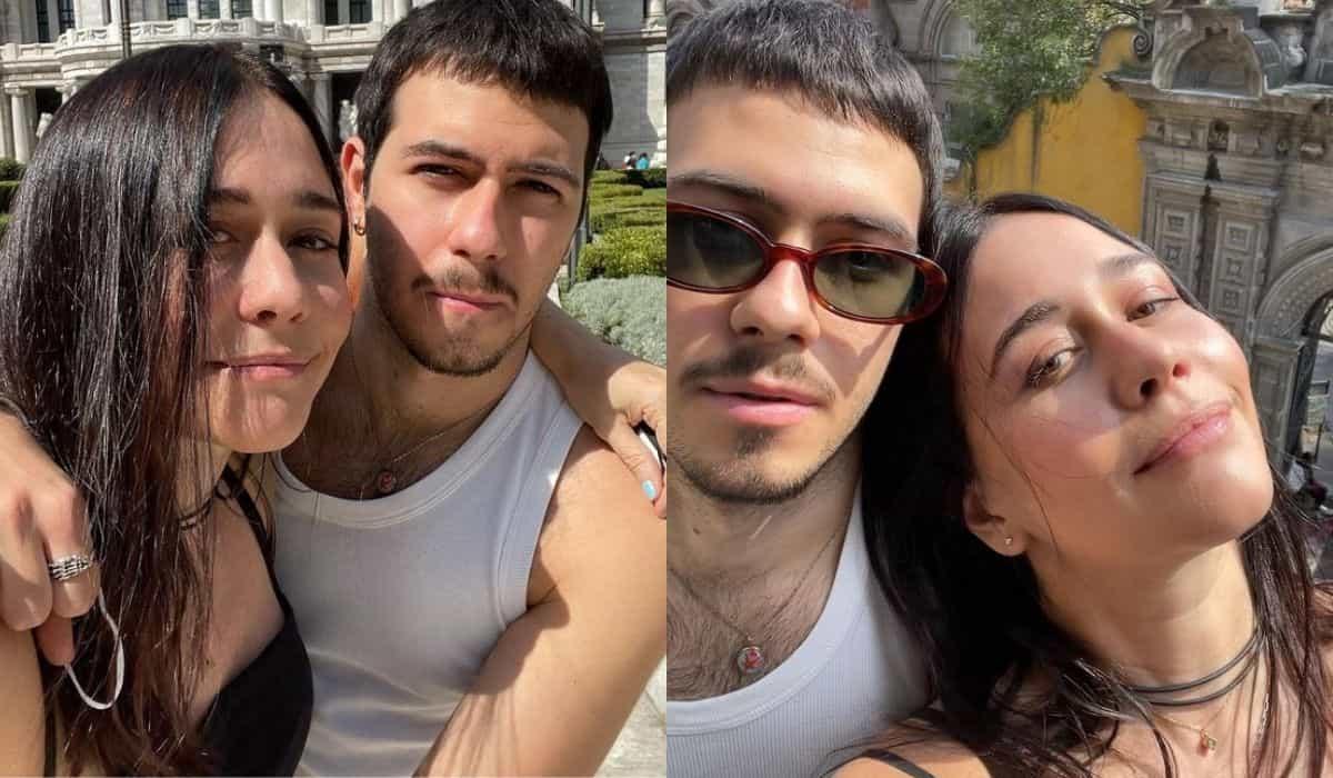Alessandra Negrini posa ao lado do filho durante viagem no México