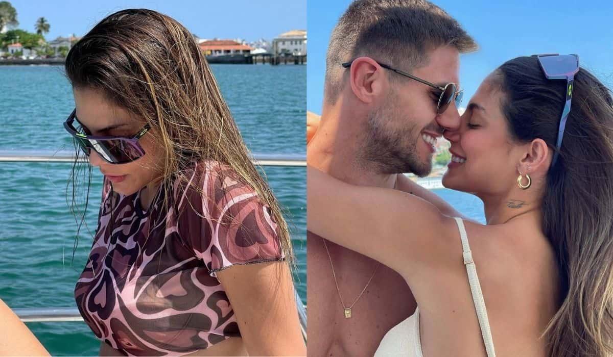 Mari Gonzalez posa durante passeio de barco: 'esse dia foi tão bom'