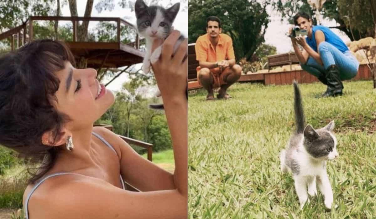 Marquezine diz que Enzo Celulari visita gatinha que adotaram todo mês