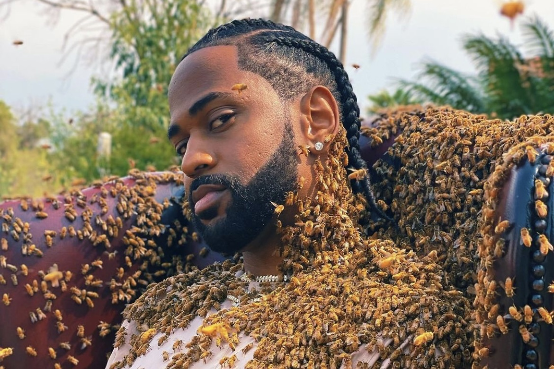 """Rapper aparece coberto de abelhas para novo clipe: """"65 mil"""""""
